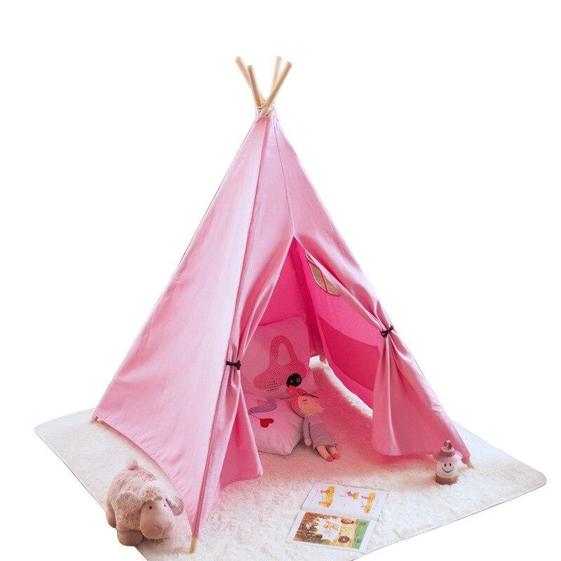 Tienda de lona Tipi niños tienda de campaña india princesa Casa de juego interior simulada Camping bebé habitación decoración regalo de cumpleaños - 5