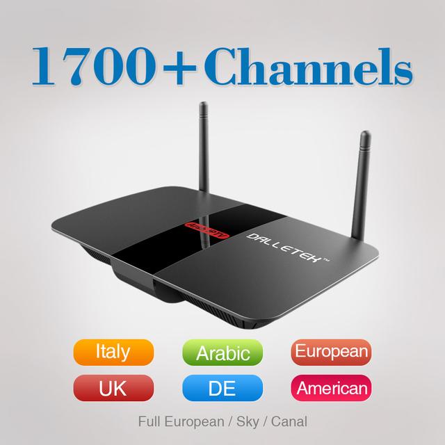 Caixa de TV Android com Assinatura de 1 Ano de Livre HD Árabe Iptv Iudtv europa Suécia Itália Francês Set Top Box Media Player 2.4 Ghz Wifi