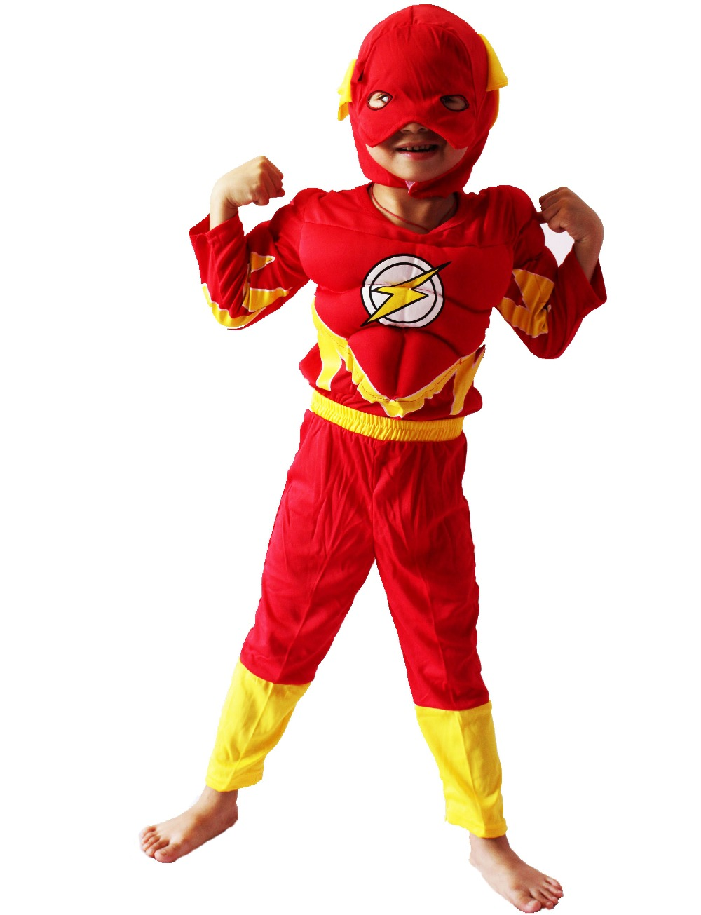 3 7 years party kids comic marvel blitzmann muscle halloween costumekid flash boy roll play clothing free shipping in kids costumes accessories from