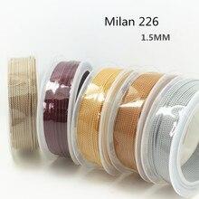 1.5mm sistema de DIY hilo De Seda cielo milan cable Joyería y embalaje y zapatos cuerda de Collares y Pulseras cordones No.1 ~ 19 colores