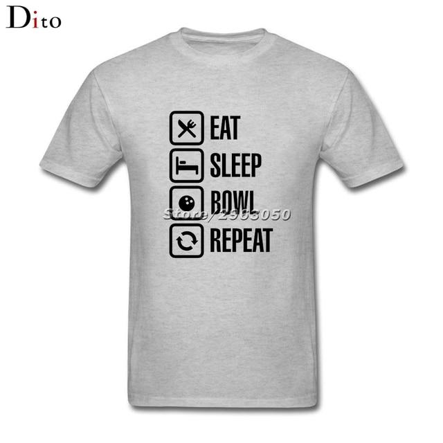 Eat sleep bowl repeat Bowlinger T Shirt Men Man's Funny Custom ...