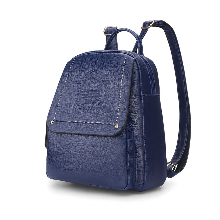 Melodycollection 6Color New trend backpack shoulder bag ladies women PU leather dual use School Rucksack wind