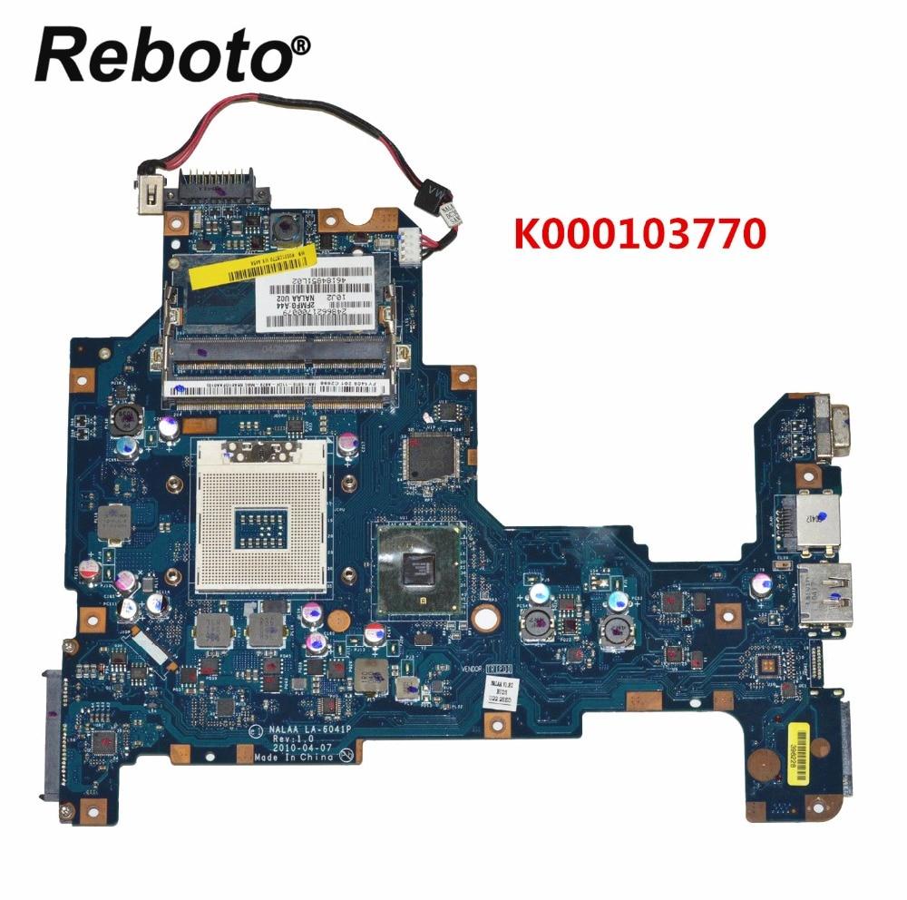Para toshiba l670 l675 computador portátil placa-mãe k000103770 nalaa LA-6041P ddr3 mainboard 100% testado navio rápido