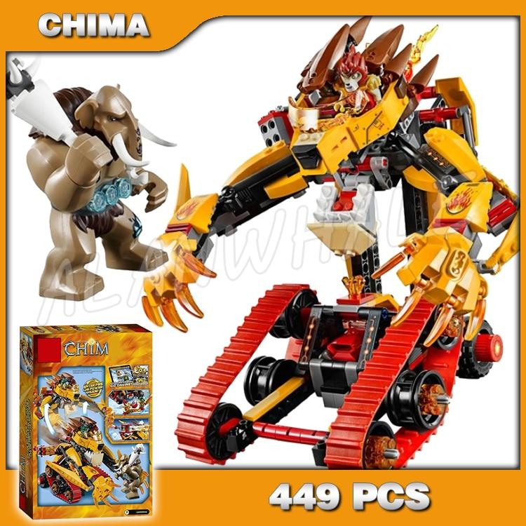 449pcs Laval's Fire Lion Mobile Mech Transform Tank Model 10295 Building Blocks Children Classic Toy Bricks Compatible With Lego