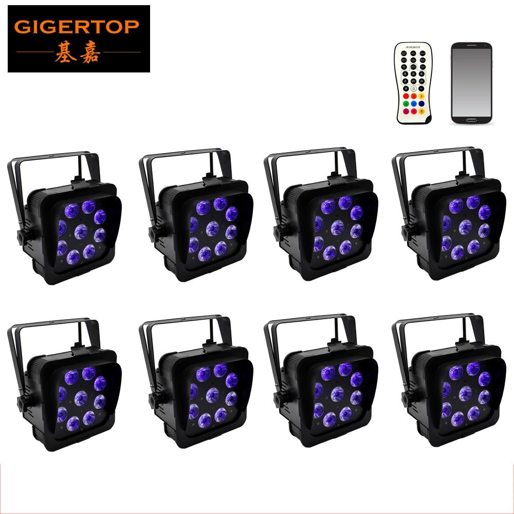 Прафесійная дастаўка 8 пакетаў Прафесійны смартфон для смартфонаў Wi-Fi Працуе з батарэяй 9 * 18 Вт LED бар з TFT маляўнічым дысплеем