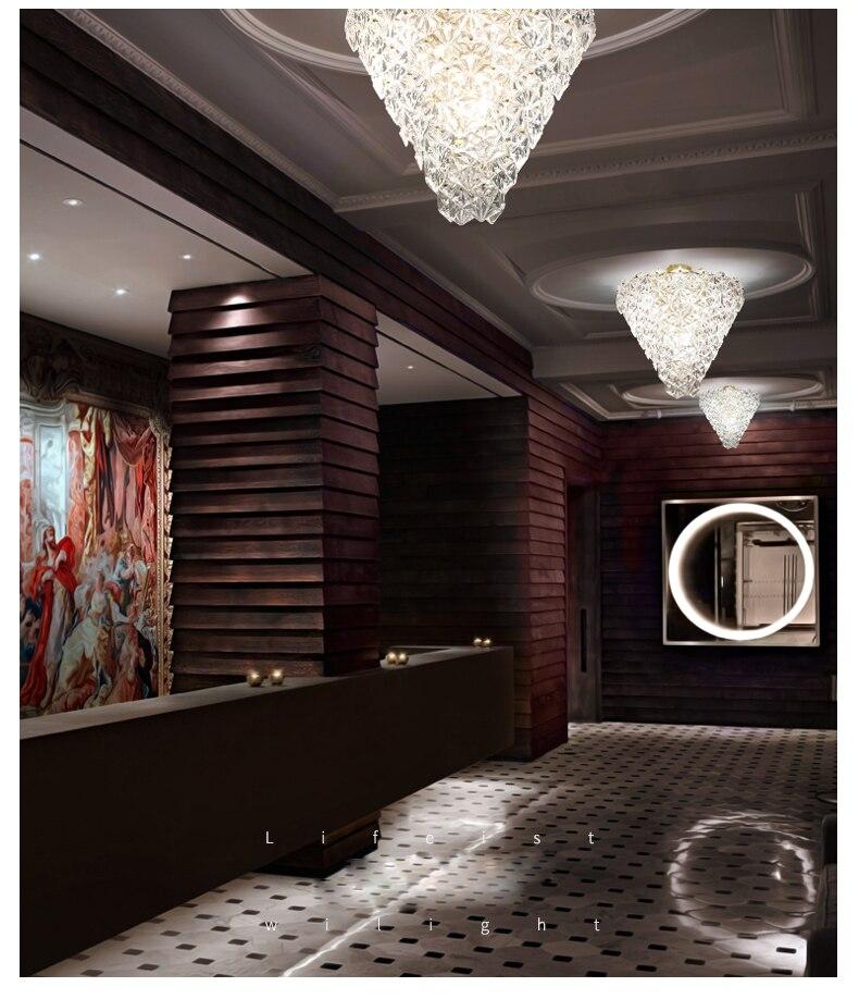 Moderne Kristallen Glas Plafondverlichting Armatuur LED Light Amerikaanse Sneeuw Bloem Plafond Lampen Bed Woonkamer Home Binnenverlichting - 4