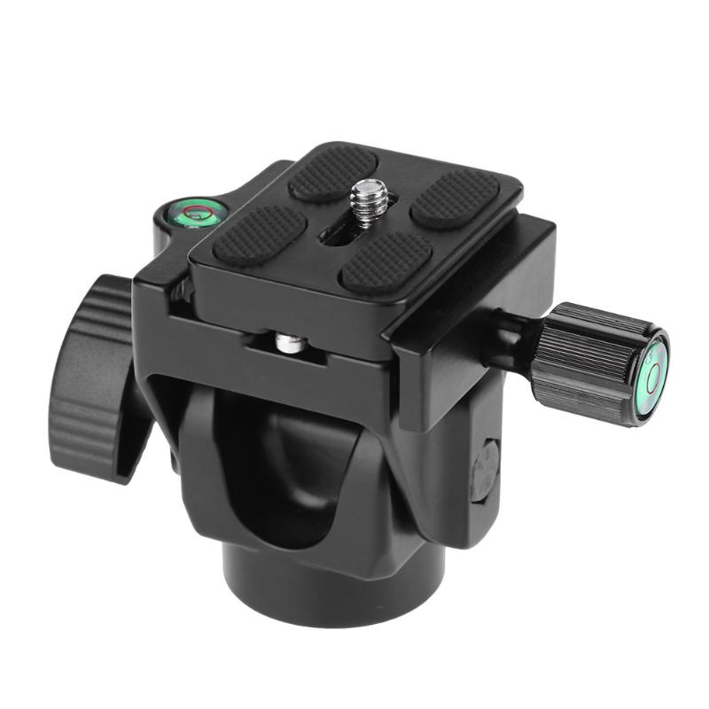 Kamera Stativ Neigekopf Aluminiumlegierung Kopf Panoramakopf Gleitschiene Kopf mit Eingebautem Laser-wasserwaagen Schnellwechselplatte
