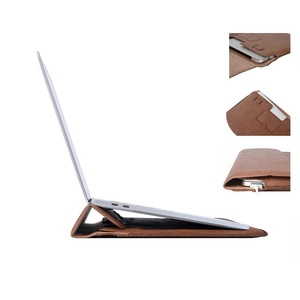 Image 3 - MOSISO PU Leather Laptop Sleeve Notebook Bag Pouch Case for Macbook Pro 15 Case Waterproof Unisex 14 Inch Laptop Bag Sleeve Cove
