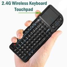 2.4G لوحة المفاتيح اللاسلكية ماوس التحكم عن بعد آير فلاي الأصلي لوحة مفاتيح صغيرة محمولة لوحة اللمس للتلفزيون الذكية لسامسونج LG أندرويد TV PC المحمول