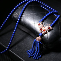 Lapis Long Statement Necklaces for Women Purple Natural Stone Beads Maxi Vintage Accessories Ethnic Jewelry Collier Femme