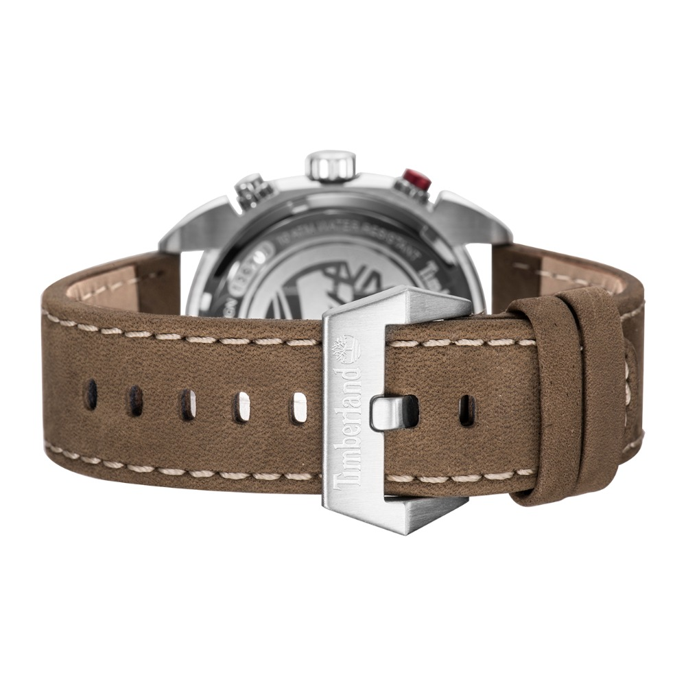 Timberland Mens Watches Multi-function Calendar Leather Casual Quartz Chronograph 100m Waterproof Watches T13670 4