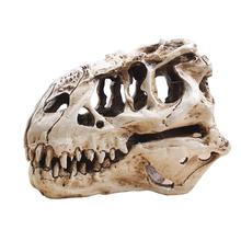 T-Rex Skull Dinosaur Resin Craft Gifts Home Decor Replica Fish Tank Statue Tyrannosaur Skull Skeleton Aquarium Decoration