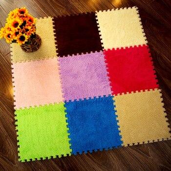 Alfombra de retales para sala de estar/dormitorio de 30x30x1cm, alfombra de retales...