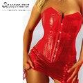 Corte rojo Cintura de La Talladora del Corsé de Overbust Corsés moda Mujeres Sexy Lingerie Erotic Vestido Bustier Top Corsé Corpiño Ramillete