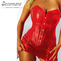 Red Court Overbust Shaper Corselet Waist fashion Corsets Women Sexy  Lingerie  Erotic Top Corsets Bodice Corsage Bustier Dress