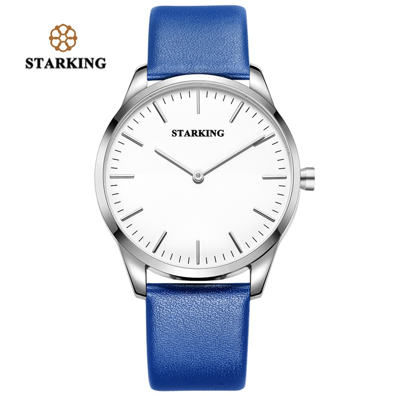 STARKING Fashion 2018 Watch Men Luxury Brand Popular Womens Watches Quartz Simple Dial Leather Band Wristwatch Male Clock Gift simple minimalism casual men quartz wristwatch number dial genuine leather band cost effective natural wooden design male watch