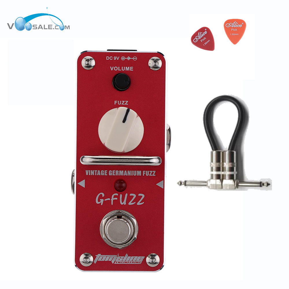 AGF-3 Vintage Germanium Fuzz Guita Guitar Effect Pedal Aroma Mini Analogue Pedals With True Bypass guitar Parts Aluminium Alloy aroma tom sline abr 3 mini booster electric guitar effect pedal with aluminum alloy housing true bypass durable guitar parts