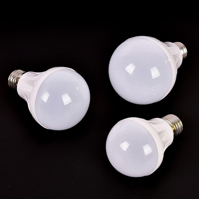 E27 LED Bulb Lights DC 12V Led Lamp 3W 5W 7W Energy Saving Lampada AC 220V, DC 12 V Led Light Bulbs For Outdoor Lighting
