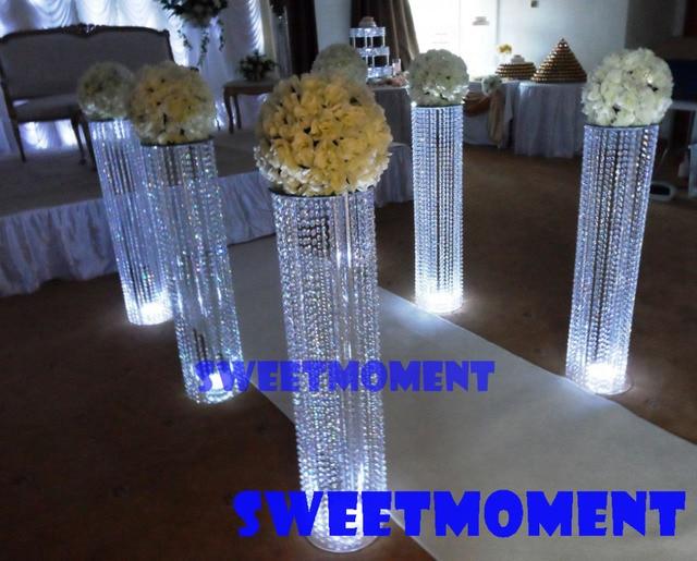 16pcs Wedding Pillar Decoration Crystal Bead Strands in Candle