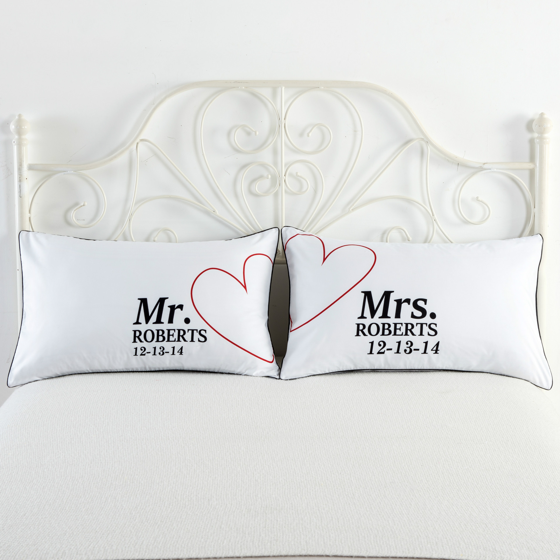 Mr And Mrs Pillow Cases Couple Pillowcases His And Hers Personalized