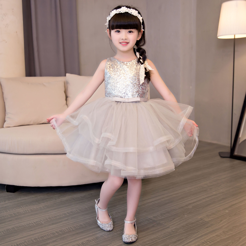 2017 Fashion European Children Girls Wedding Birthday Summer Princess Party Dresses Children Costume Clothes Dress Size 3-15 sunny fashion girls dress birthday cupcake polka dot birthday princess 2018 summer wedding party dresses kids clothes size 3 8