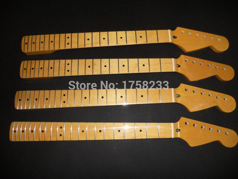 2019 Top quality Unfinished electric guitar neck cross screw adjust the clavichord decoration+rosewood fingerboard 21 fret neck plunging neck solid top