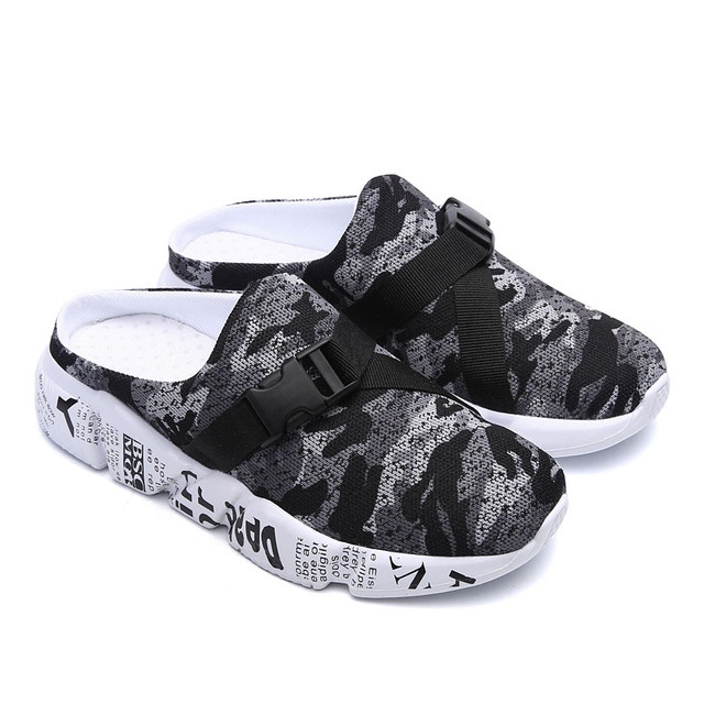 New Lightweight Soft Slippers Man Beach Sandals Summer Men's Camouflage Design Roman Outdoor Slippers Elastic Casual Shoes 5