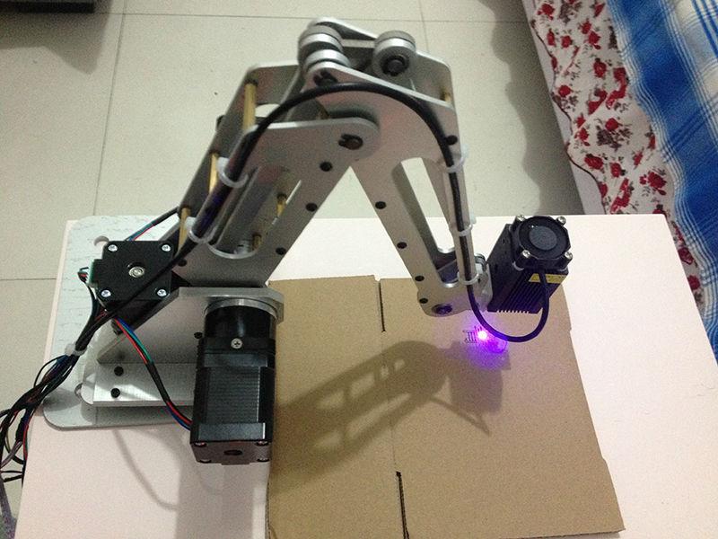 US $683 39 5% OFF|3 dof Robot Arm Industrial Robotic Manipulator Industrial  Stepping Motor diy 3d printer lazer carve for arduino mega power-in Parts