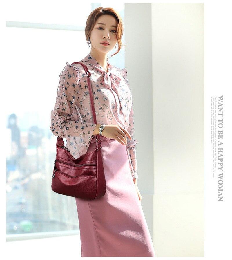 luxo senhoras bolsa de alta qualidade macio