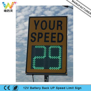 Limit-Sign Roadway 12V Waterproof Bridge Battery-Powered Radar-Speed Customized Aluminum