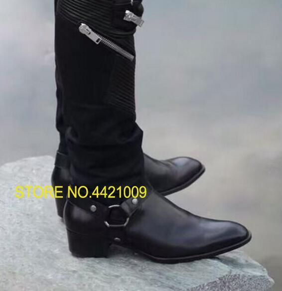Military Cowboy Boot Genuine Leather Cow Leather Men Boots high top Zipper fashion british style fashion men Chelsea Boots new british style real top cow leather boots qshoes mens business dress casual fashion men personalized round toe boot y97 663