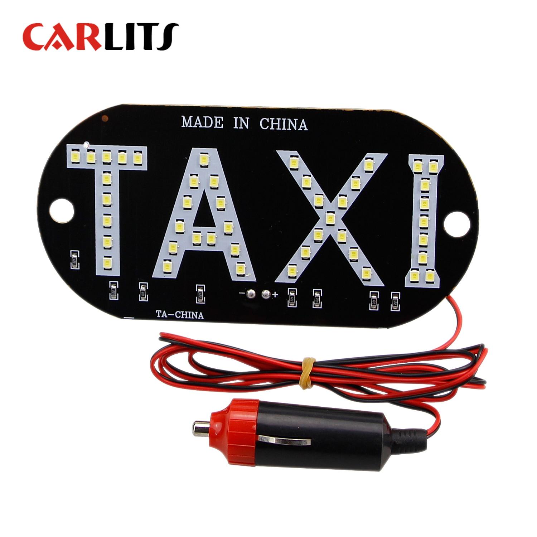 CARLITS 1pcs/lot Taxi Led Car Windscreen Cab Indicator Lamp Sign Blue Red Green White LED Windshield Taxi Light Lamp 12V