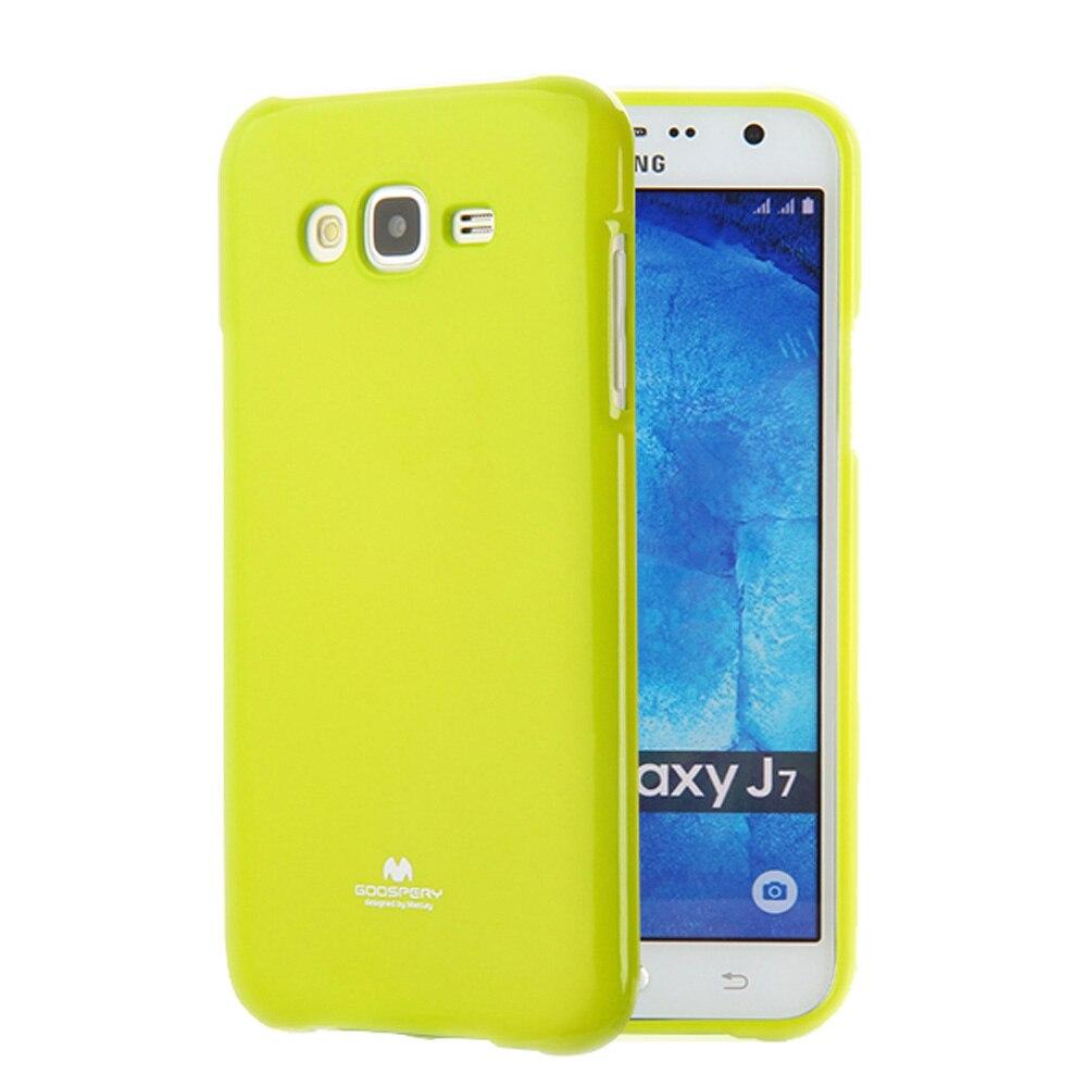 Case For Samsung Galaxy J1 J2 J3 J5 J7 Prime Mini Cover Tpu Jelly Mercury Clear Original Brand Colorful Glitter J700 Coque Silicone Gel