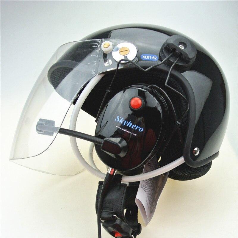 Cascos de parapente alimentados con casco de parapente de cancelación de ruido PPG venta directa de fábrica