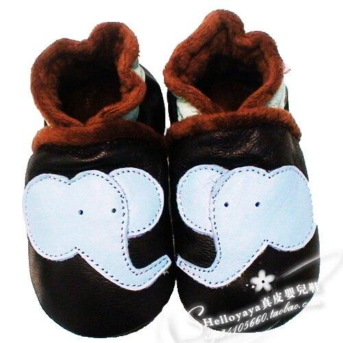 Черный зима хлопок - мягкий обувь хлопок сапоги скольжение круто-устойчивых натуральная кожа младенцы мягкий Elephant малыша обувь подошва
