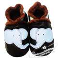 Black winter cotton-padded shoes cotton boots slip-resistant genuine leather baby soft Elephant toddler shoes outsole  Hot sale