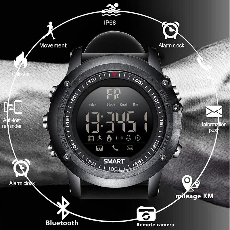 BANGWEI Sport Montre Intelligente D'informations Appeler Rappel de Vibration Numérique Horloge Bluetooth Podomètre IP68 Étanche Montre Intelligente