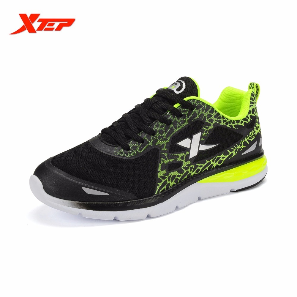 XTEP Original New Breathable Man Running Outdoor Sports Athletic Shoes Trainers Men Training Sneakers Rubber Thick Sole Slip-on