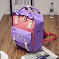 New Fashion Women Girls Fashion Canvas Backpack Bright Color Rucksack