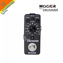 Mooer Micro Drummer Digital Drum Machine Guitar Effects Pedal Personal Drummer 121 Drumbeats 11 Music Styles True Bypass