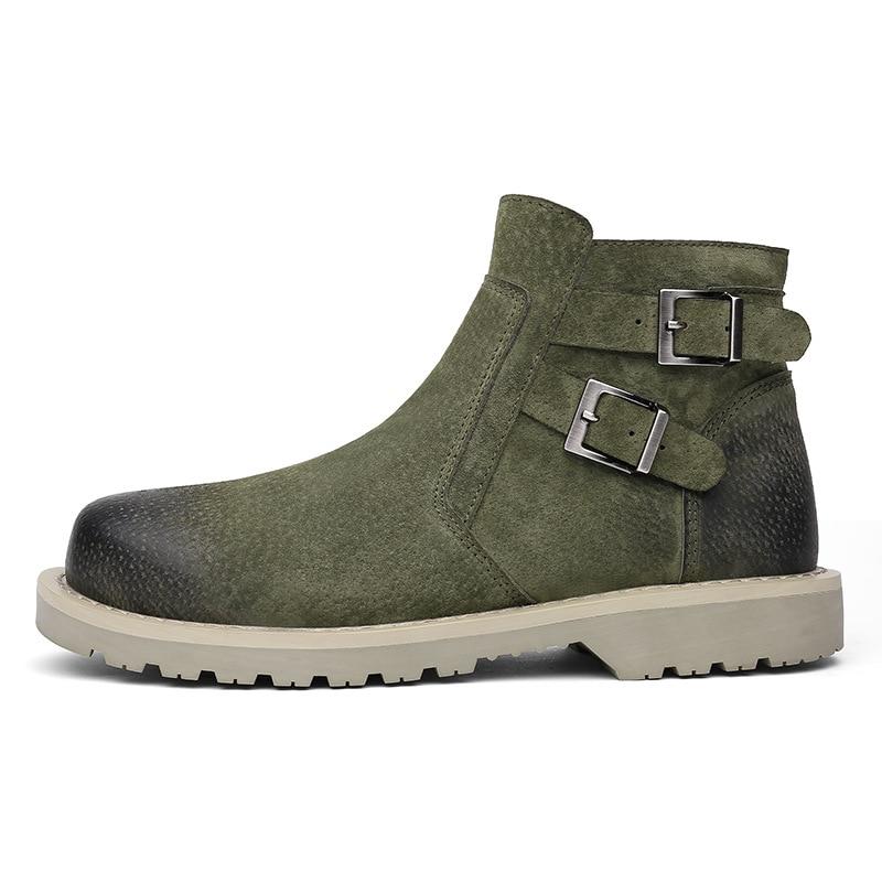 Army Chaussures Qualité Britannique gray Loisirs Zipper Hiver Automne Chaussures Green 2018 black Et Haute Nouveaux Hommes De Martin Bottes q6ZwZI