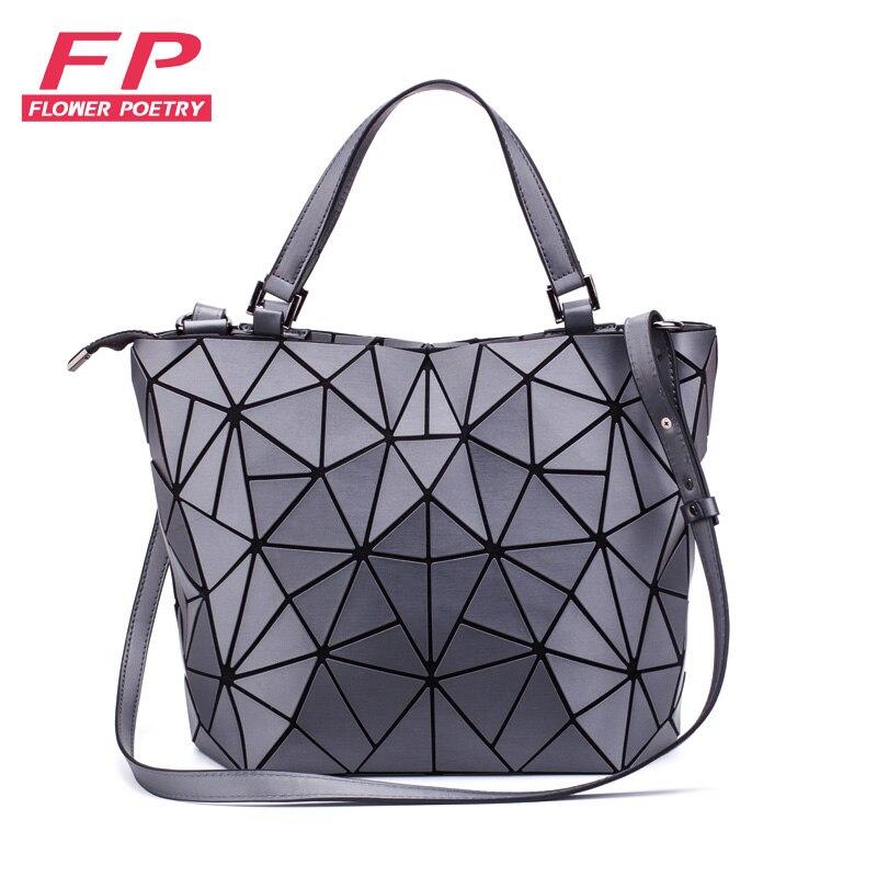 Marcas famosas bolsa de ombro feminina geométrica luminosa bolsas ombro mensageiro saco das senhoras bolsa feminina casual totes bolso