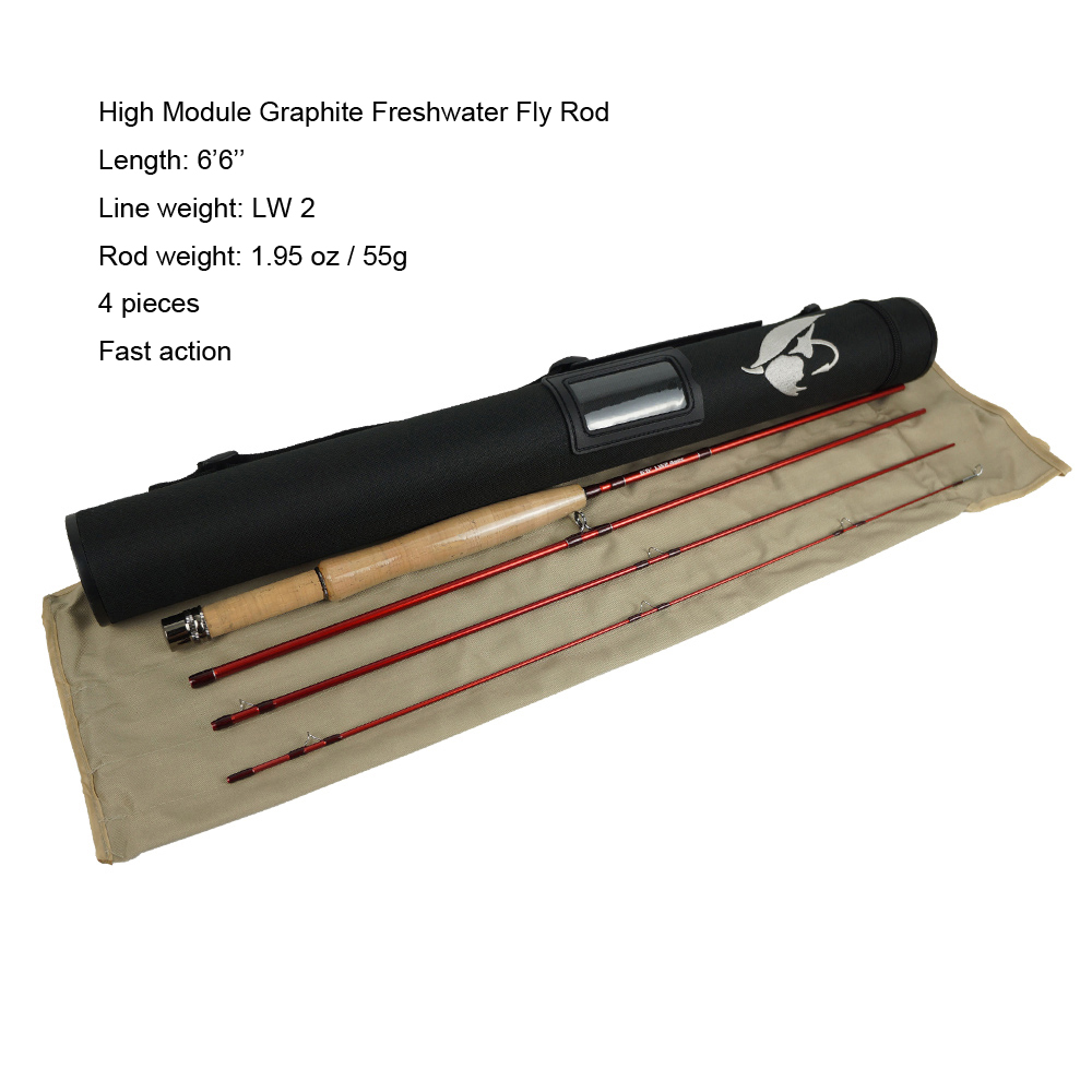 Aventik 6 6 LW2 4 Pieces High Modulus Graphite Freshwater Fly Rods Ultra Light 1 94