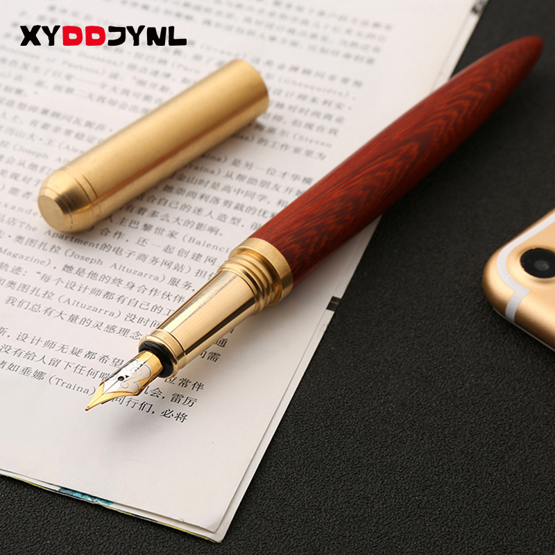 1PC Luxury Wood Fountain Pen Stationery 0.7MM Caneta Office Supply Iraurita Writing Caneta Tinteiro High-end Gift parker 88 maroon lacquer gt fine point fountain pen