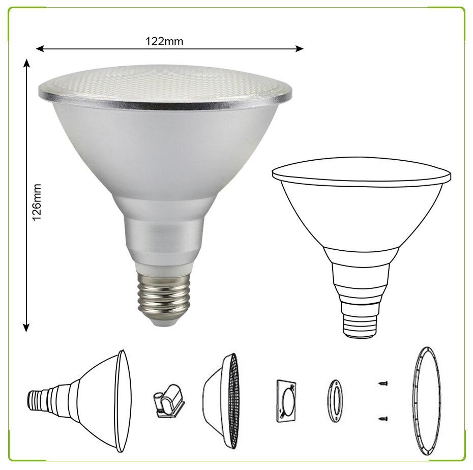 Light Bulb AC85-265V Ampola Interior Da Lâmpada