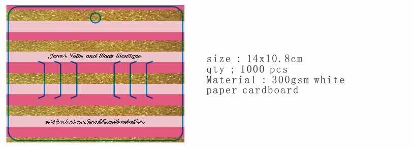 Cartes à bijoux personnalisées avec impression de logo personnalisée. carte à pince à cheveux avec logo du client imprimé compensation de paiement