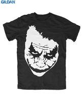 Dostosowane Gorąca Sprzedaż T Shirt Moda Gildan O-Neck Krótki Rękaw Moda 2017 Mężczyzna Trójniki Joker Why So Serious Twarzy Ha Ha Ha