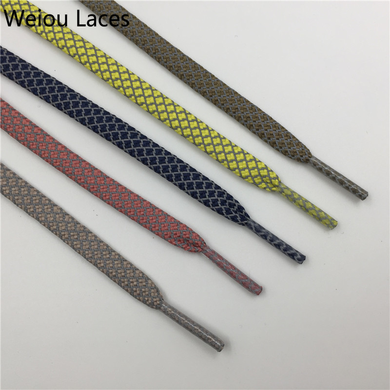 (30pairs/Lot) Weiou Polyester Flat Safety 3M Reflective Shoelaces Wholesale Latchet For Sneakers Plastic Shoe Lace Tips Factory