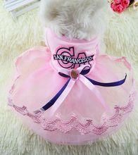 G13 NEW arrival Pet skirt Dress Dog Dresses Summer Teddy Dress For Dogs Pet Clothes