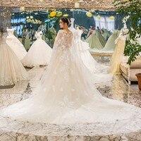 Encaje brautkleider vestido de noiva simples luxury wedding dress bridal dress Vestido de novia abito sposa 2018